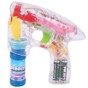 Transparent LED Bubble Gun