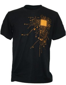 SODAtees Men's COMPUTER CPU CORE HEAT Geek T-Shirt