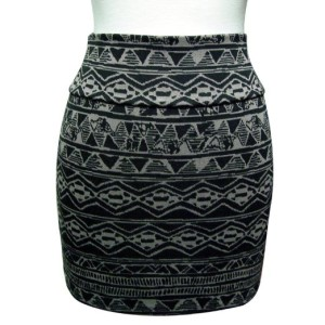 Aztec Tribal Mini Skirt