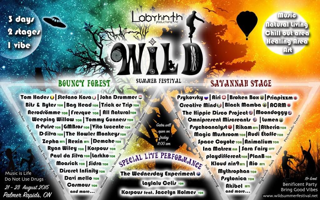 WILD Festival Canada 2015 Lineup